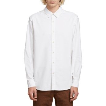 Camisa manga larga blanca Oxford Stretch White de Volcom