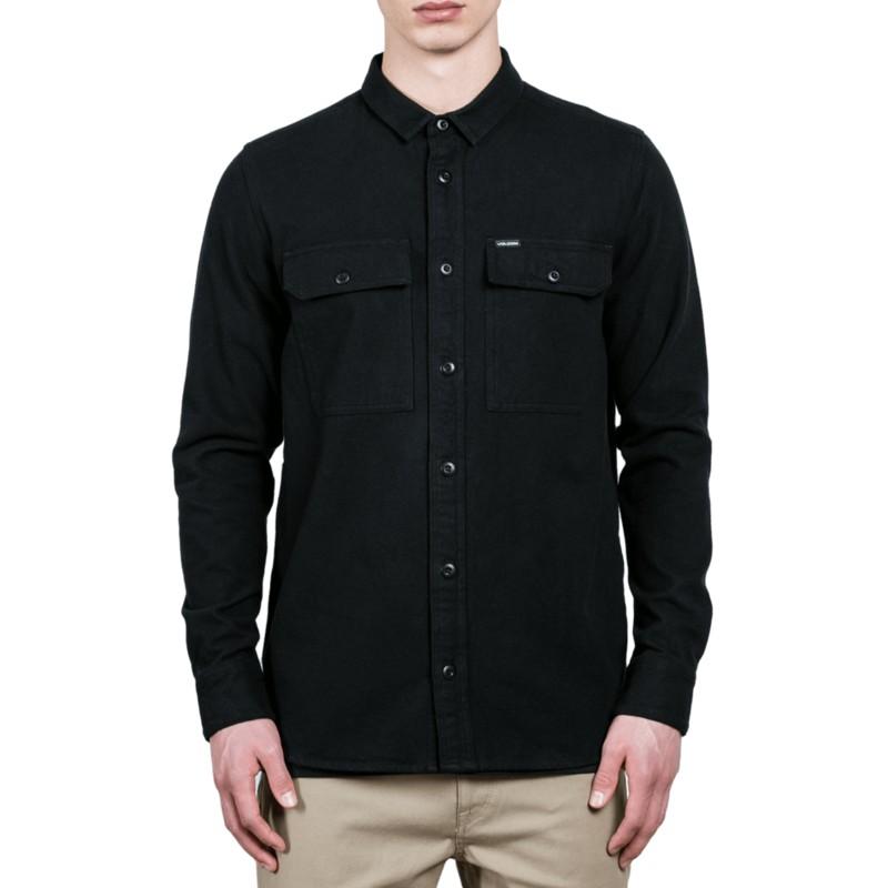 Camisa manga larga negra Ketil Black de Volcom  comprar online en ... a8ffbfbe668fc
