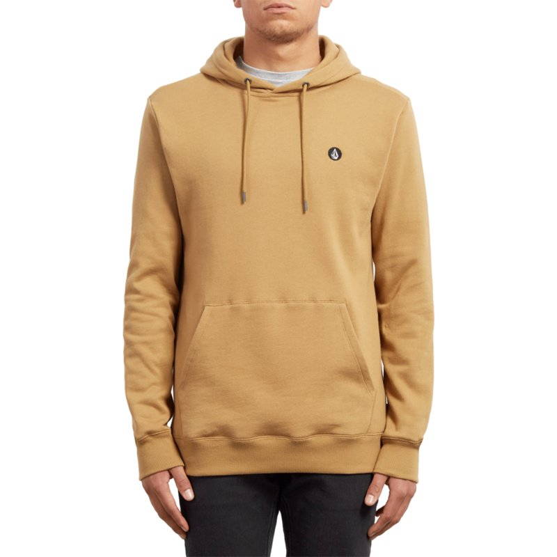 sudadera-con-capucha-amarillo-single-stone-old-gold-de-volcom