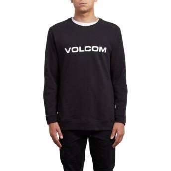 Sudadera sin capucha negra Imprint Black de Volcom