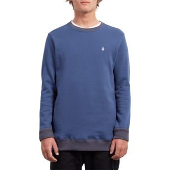 Sudadera sin capucha azul Single Stone Matured Blue de Volcom