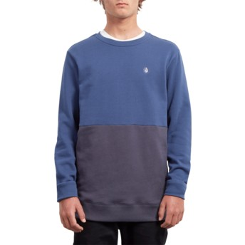 Sudadera sin capucha azul Single Stone Division Matured Blue de Volcom