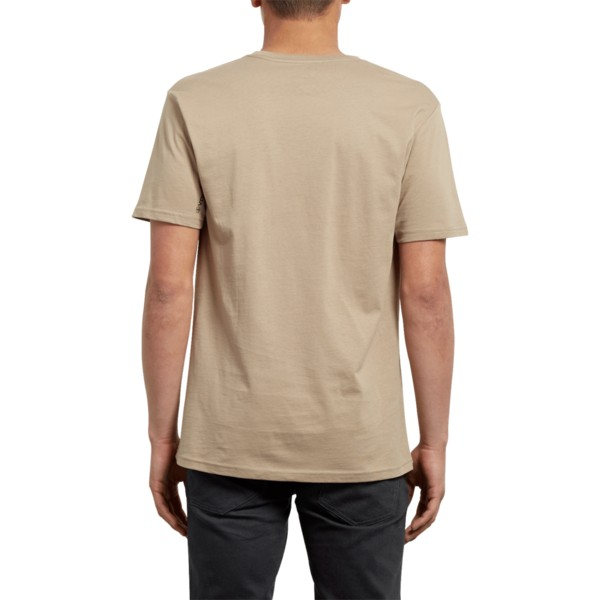camiseta-manga-corta-marron-sound-sand-brown-de-volcom