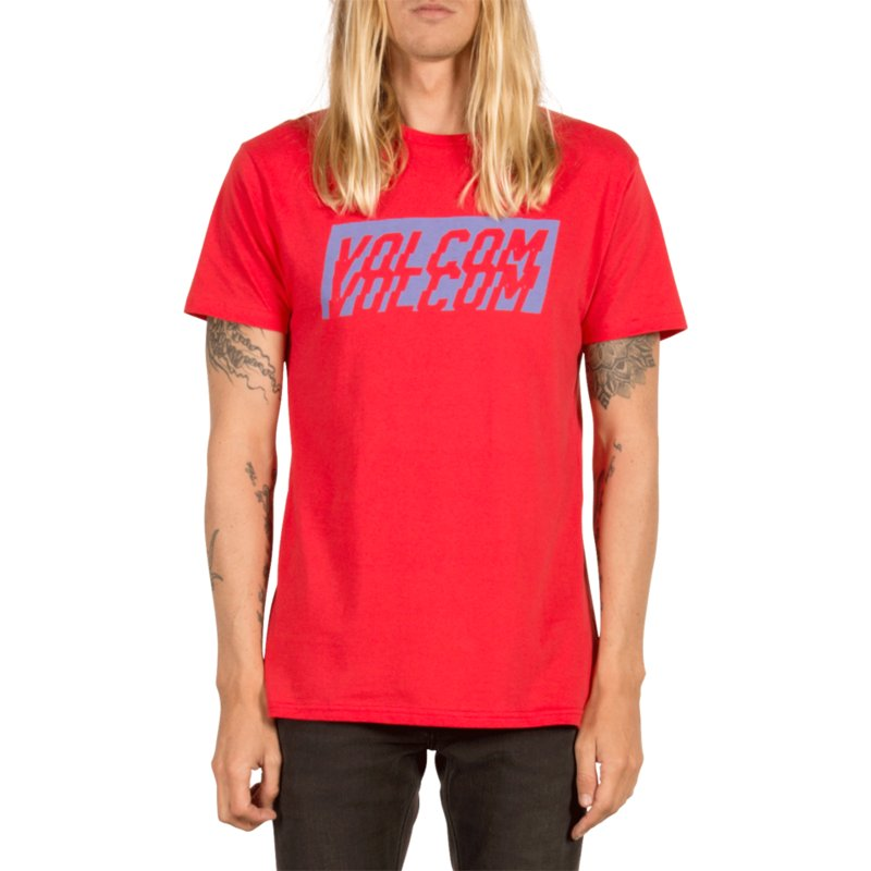 camiseta-manga-corta-roja-chopper-true-red-de-volcom