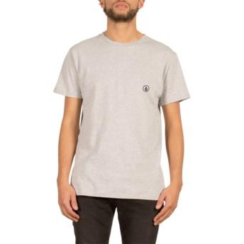 Camiseta manga corta gris Stone Blank Heather Grey de Volcom