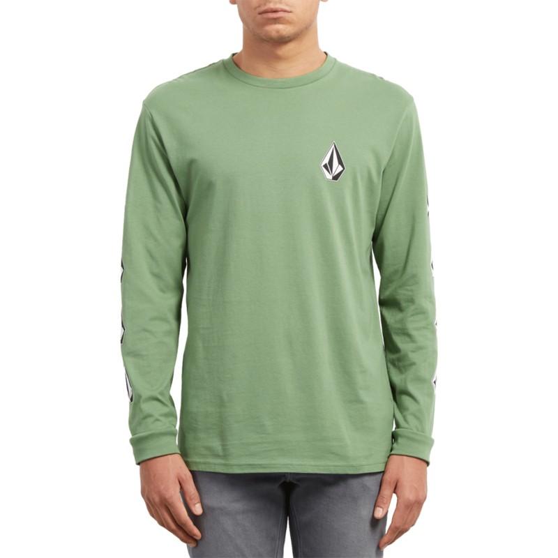 01788c2ae99fa Camiseta manga larga verde Deadly Stone Dark Kelly de Volcom ...