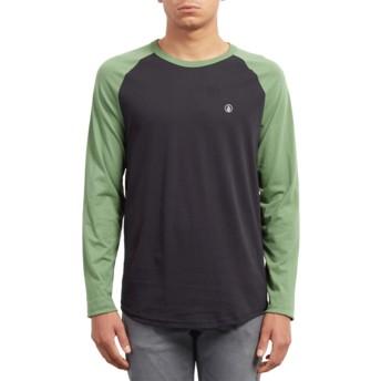 Camiseta manga larga negra y verde Pen Dark Kelly de Volcom