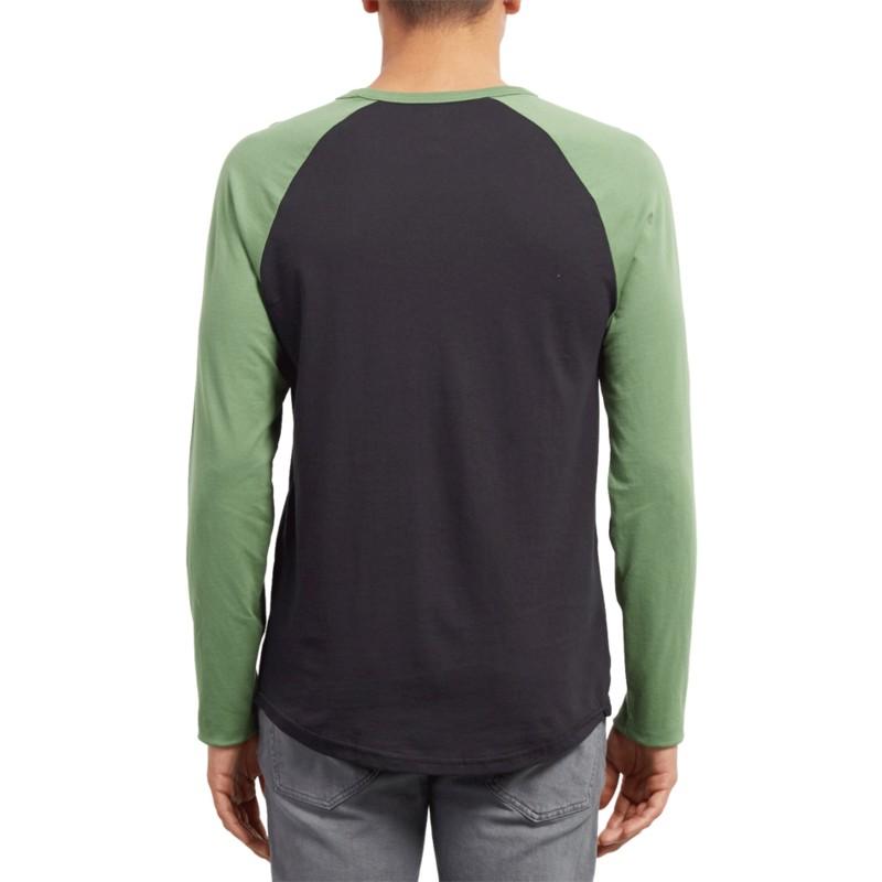 729e007442f53 Camiseta manga larga negra y verde Pen Dark Kelly de Volcom  comprar ...
