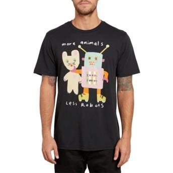 Camiseta manga corta negra Less Bots Black de Volcom