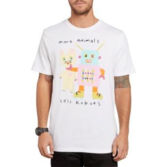 Camiseta manga corta blanca Less Bots White de Volcom