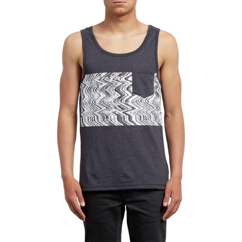 9f71f40782 Camiseta sin mangas negra Lofi Heather Black de Volcom  comprar ...