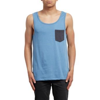 Camiseta sin mangas azul Pocket Wrecked Indigo de Volcom