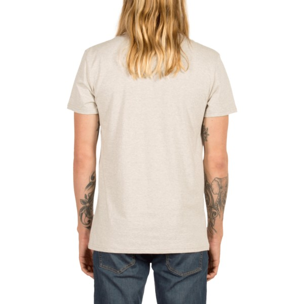 camiseta-manga-corta-gris-contra-pocket-heather-grey-de-volcom