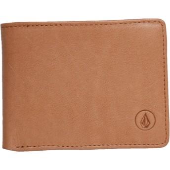 Cartera marrón Strangler Leather Natural de Volcom