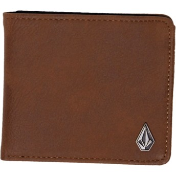 Cartera marrón Slim Stone Brown de Volcom