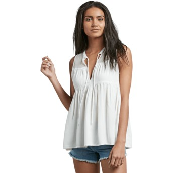 Blusa manga corta blanca Sea Y'around Star White de Volcom