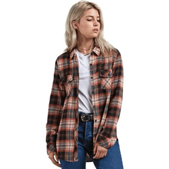 Camisa manga larga multicolor Getting Rad Plaid Black Plaid de Volcom