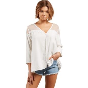 Camisa manga larga blanca Sea Y'around Star White de Volcom