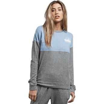 Sudadera sin capucha azul y gris Lil Charcoal Grey de Volcom