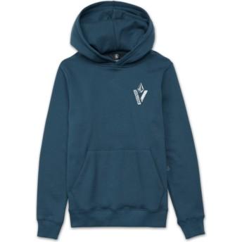 Sudadera con capucha azul para niño Supply Stone Navy Green de Volcom