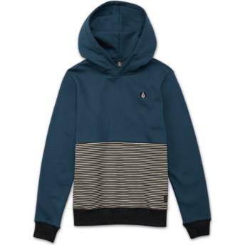 Sudadera con capucha azul para niño Threezy Navy Green de Volcom