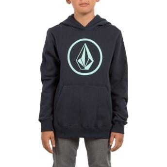 Sudadera con capucha azul marino para niño Stone Navy de Volcom