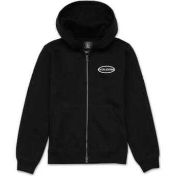 Sudadera con capucha y cremallera negra para niño Shop Black de Volcom