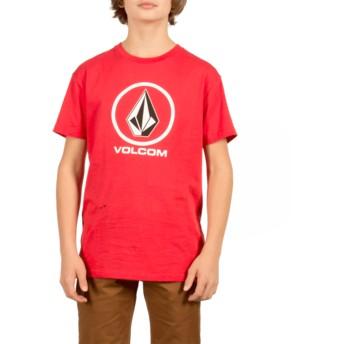 Camiseta manga corta roja para niño Circle Stone True Red de Volcom