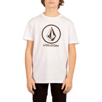 Camiseta manga corta blanca para niño Circle Stone White de Volcom