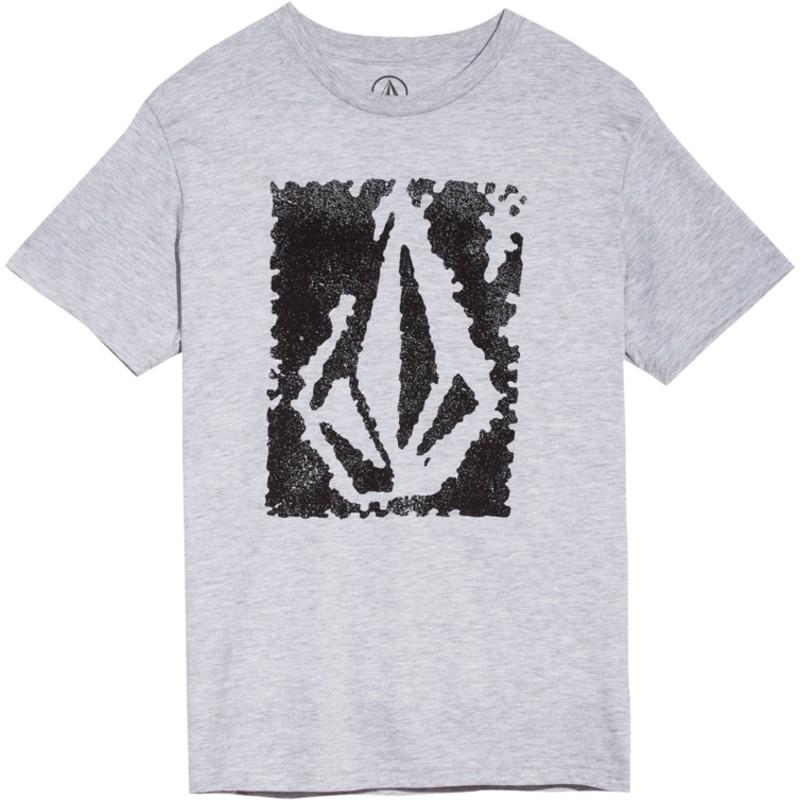 6c6137bf027 Camiseta manga corta gris para niño Pixel Stone Heather Grey de ...