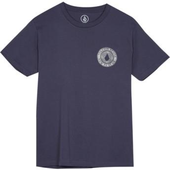 Camiseta manga corta azul marino para niño Volcomsphere Midnight Blue de Volcom