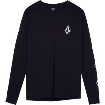 Camiseta manga larga negra para niño Deadly Stone Black de Volcom