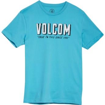 Camiseta manga corta azul para niño Camp Blue Bird de Volcom