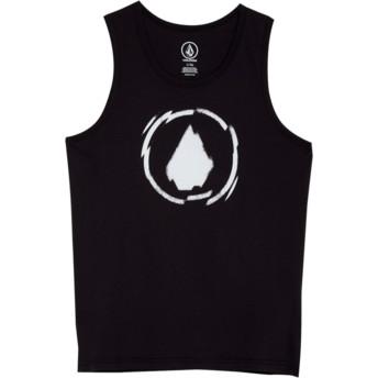 Camiseta de tirantes negra para niño Shatter Black de Volcom