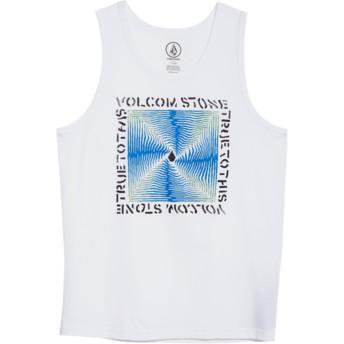 Camiseta de tirantes blanca para niño Stoneradiator White de Volcom