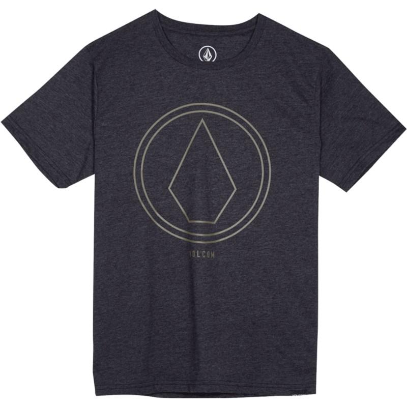 3882e33d109 Camiseta manga corta negra para niño Pinline Stone Heather Black de ...