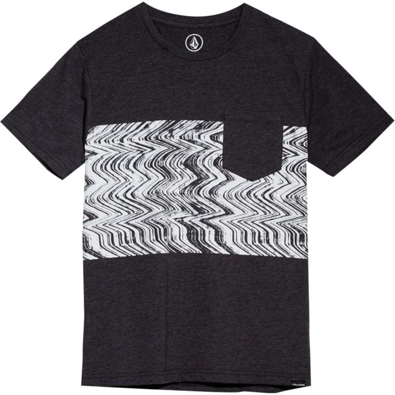 8913d055ae5 Camiseta manga corta negra para niño Lofi Heather Black de Volcom ...