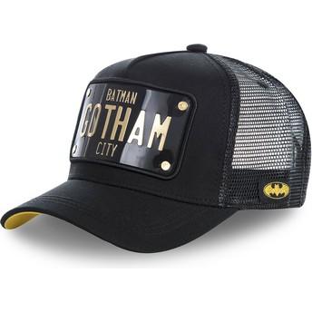 Gorra trucker negra con placa Batman Gotham City BATP1 DC Comics de Capslab