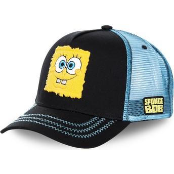 Gorra trucker negra y azul Bob Esponja SPOBLK de Capslab