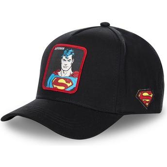 Gorra curva negra snapback Superman clásico SUP4 DC Comics de Capslab