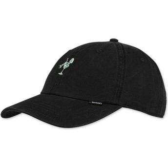 Gorra curva negra ajustable Washed Girl de Djinns