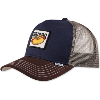 Gorra trucker azul marino Food Hot Dog de Djinns