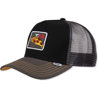 Gorra trucker negra Food Pizza de Djinns