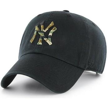 Gorra curva negra con logo camuflaje de New York Yankees MLB Clean Up Camfill de 47 Brand