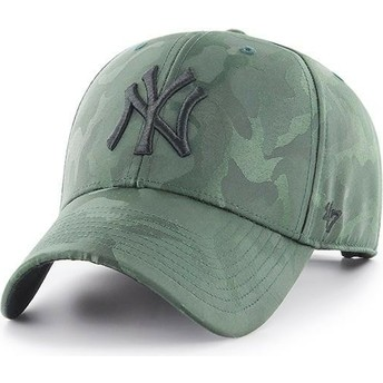 Gorra curva camuflaje verde de New York Yankees MLB Clean Up Jigsaw de 47 Brand