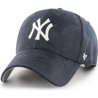 Gorra curva camuflaje azul marino de New York Yankees MLB Clean Up Jigsaw de 47 Brand