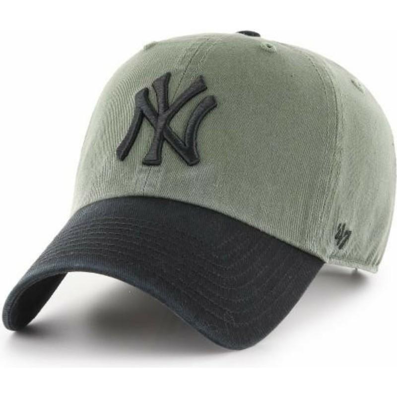 Gorra curva verde con visera y logo negro de New York Yankees MLB ... 85507dd3938