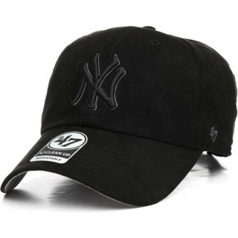 ... York Yankees MLB Clean Up Ultra Basic de 47 Brand. gorra-curva-negra -con-logo-negro-de-new- d303ef486d4