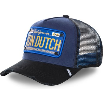 Gorra trucker azul marino con placa TRUCK15 de Von Dutch