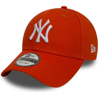 Gorra curva naranja ajustable 9FORTY Essential de New York Yankees MLB de New Era